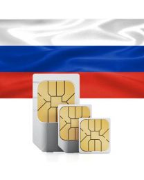 Russian flag data sim card for use in Russia