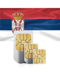 Serbian flag data sim card for use in serbia